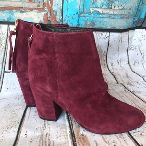 "Steve Madden Burgundy ""Cynthia"" Ankle Booties"